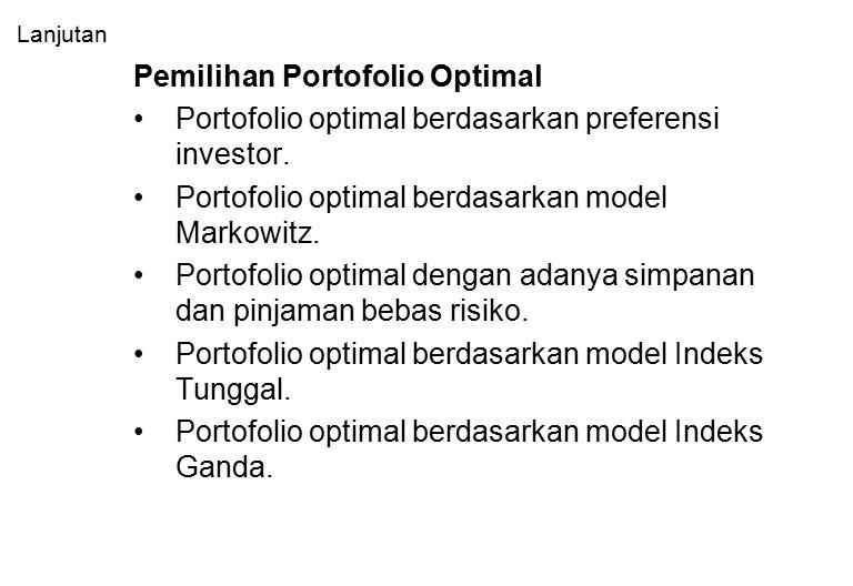 Pemilihan Portofolio Optimal