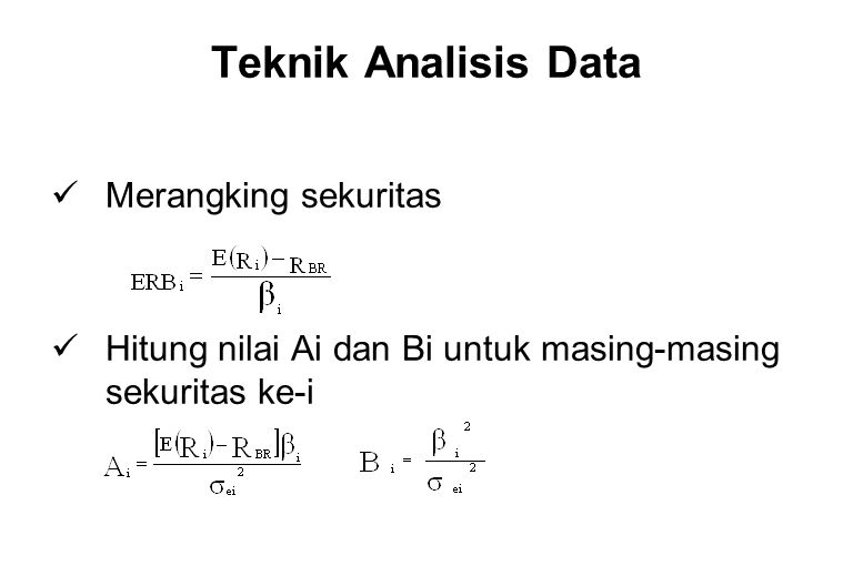 Teknik Analisis Data Merangking sekuritas