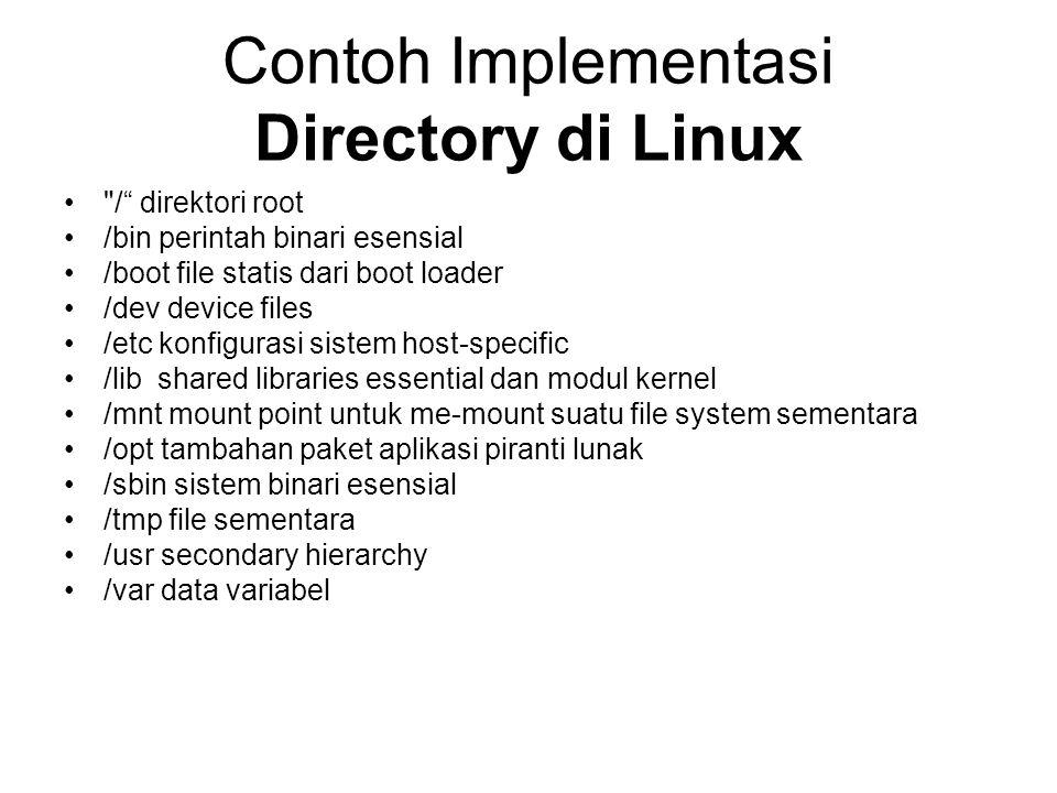 Contoh Implementasi Directory di Linux