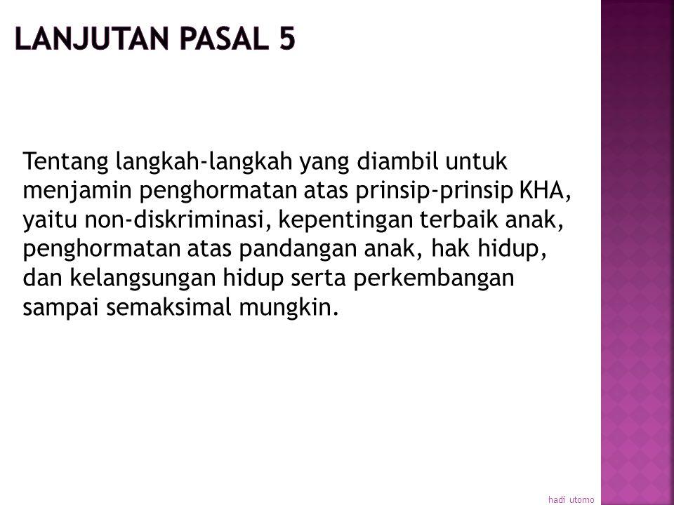 LANJUTAN PASAL 5