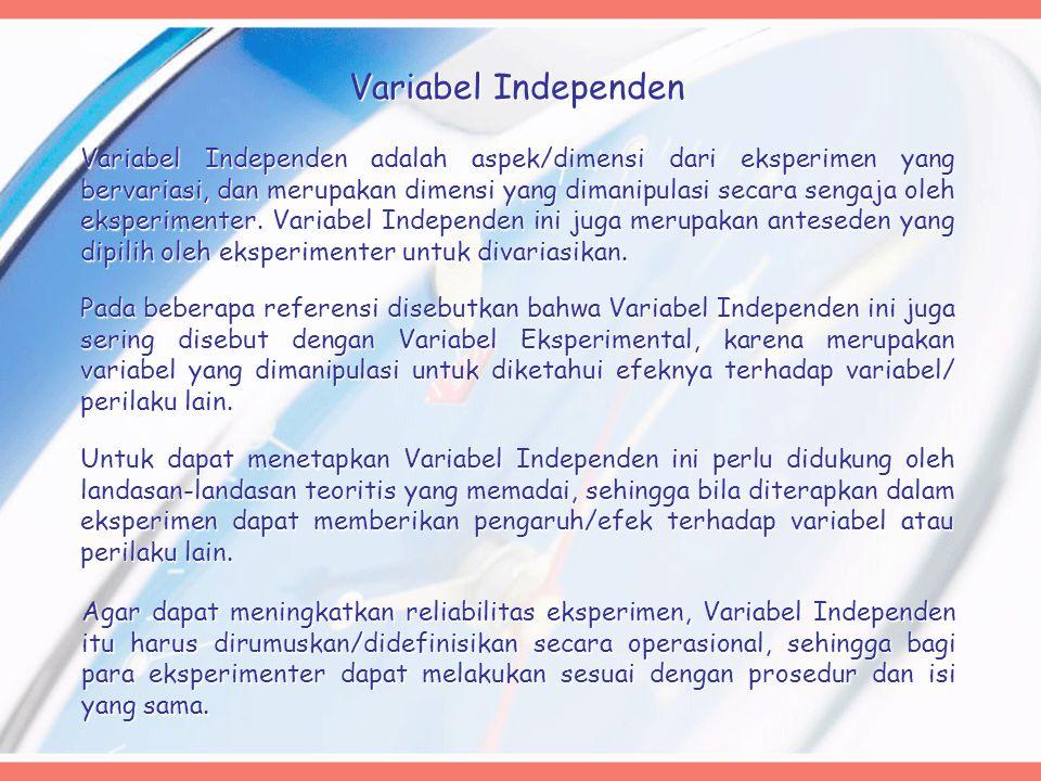 Variabel Independen