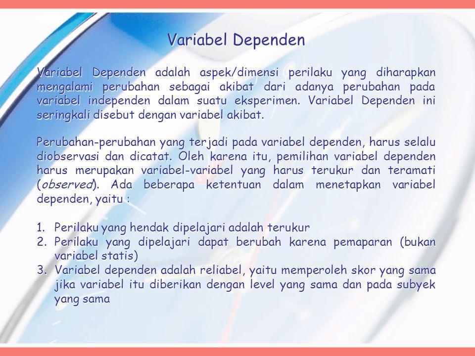 Variabel Dependen