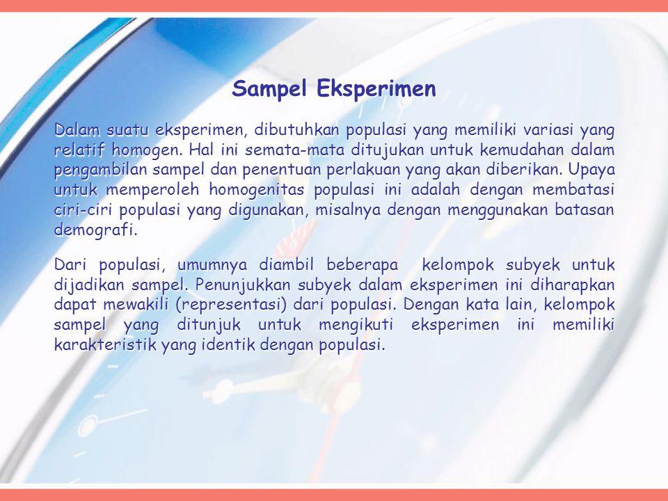 Sampel Eksperimen