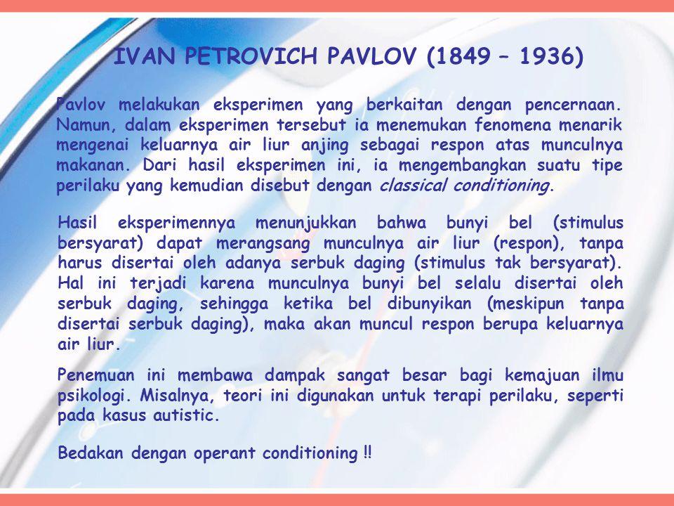 IVAN PETROVICH PAVLOV (1849 – 1936)