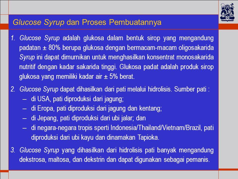 Glucose Syrup dan Proses Pembuatannya