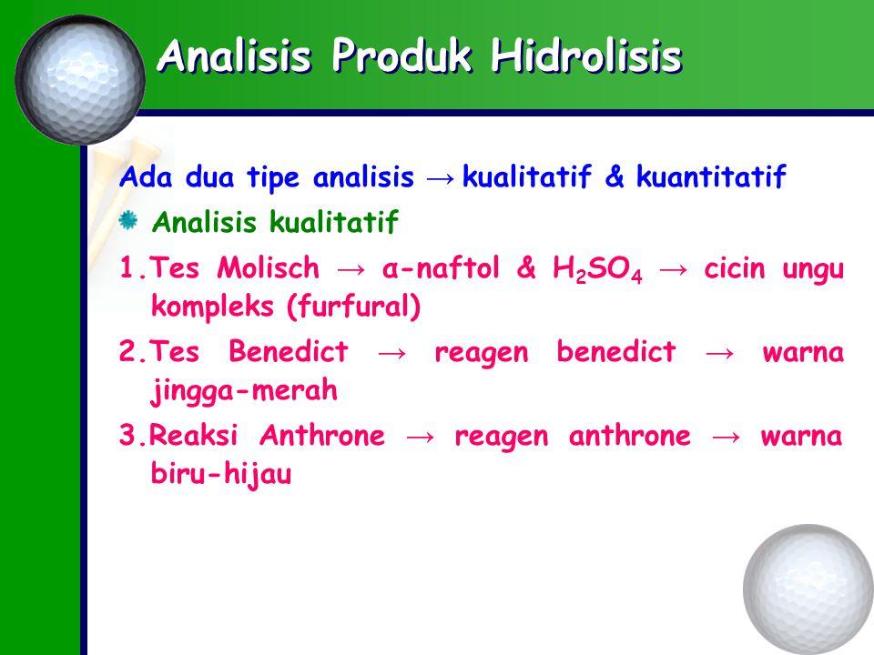 Analisis Produk Hidrolisis