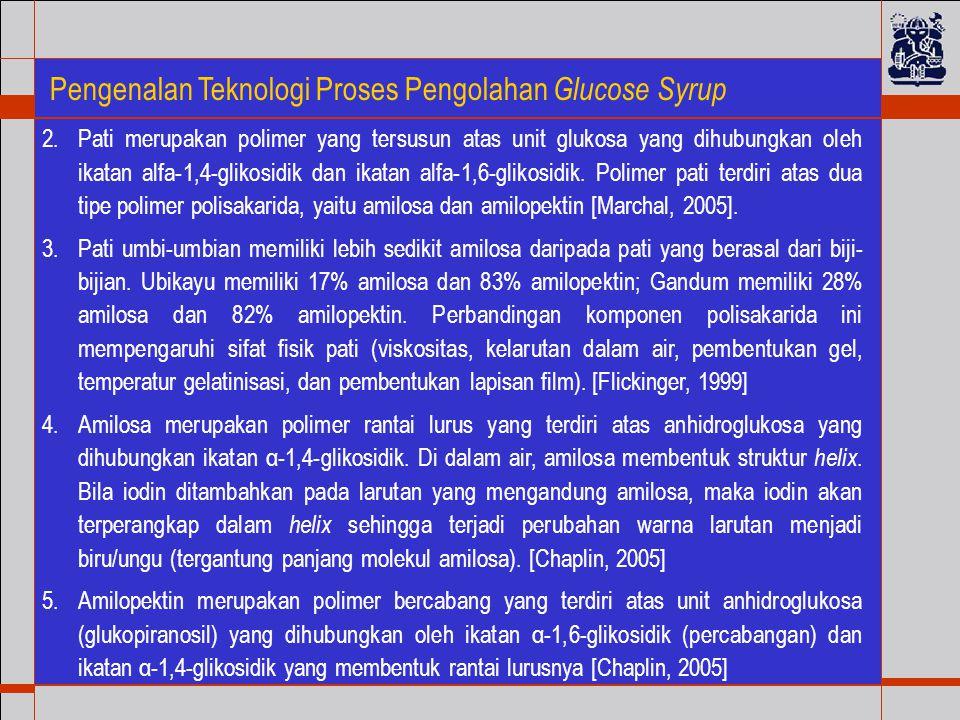 Pengenalan Teknologi Proses Pengolahan Glucose Syrup