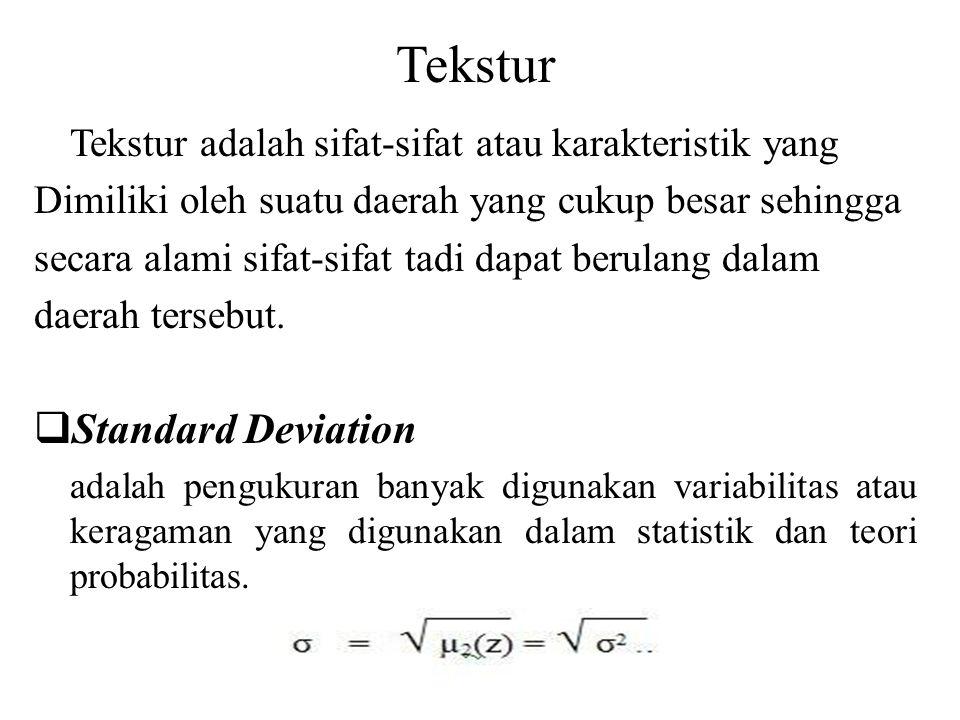 Tekstur Standard Deviation