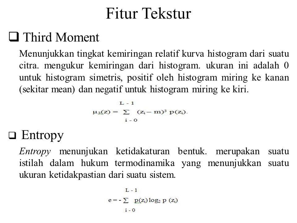 Fitur Tekstur Third Moment