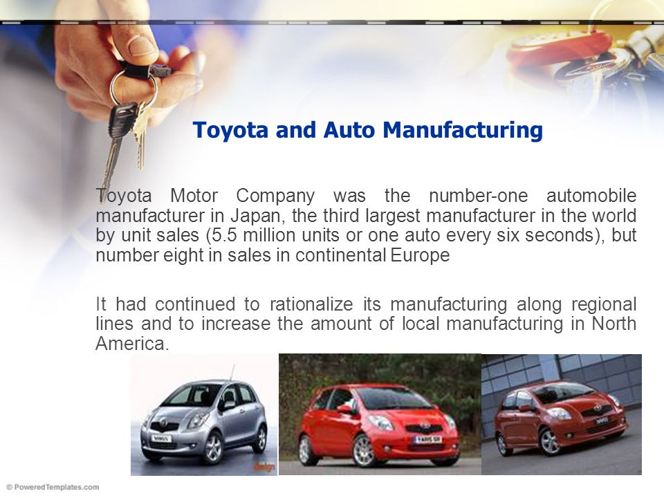 Toyota and Auto Manufacturing