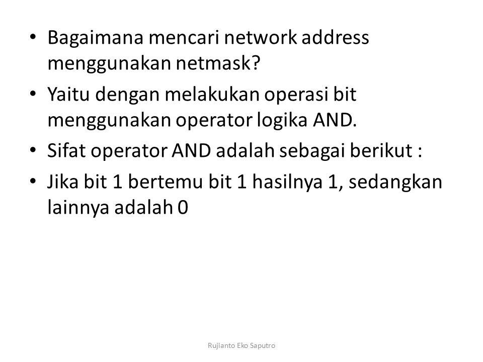 Bagaimana mencari network address menggunakan netmask