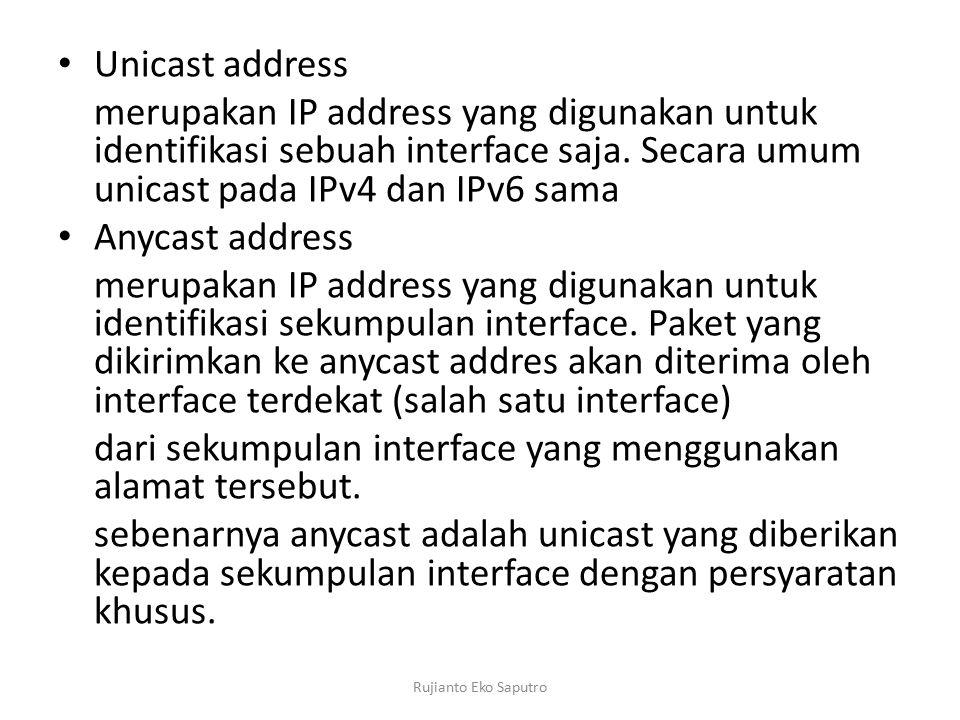 dari sekumpulan interface yang menggunakan alamat tersebut.