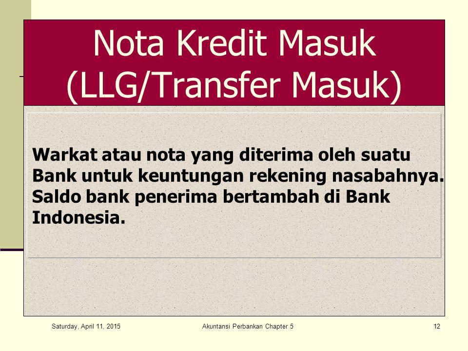 Nota Kredit Masuk (LLG/Transfer Masuk)
