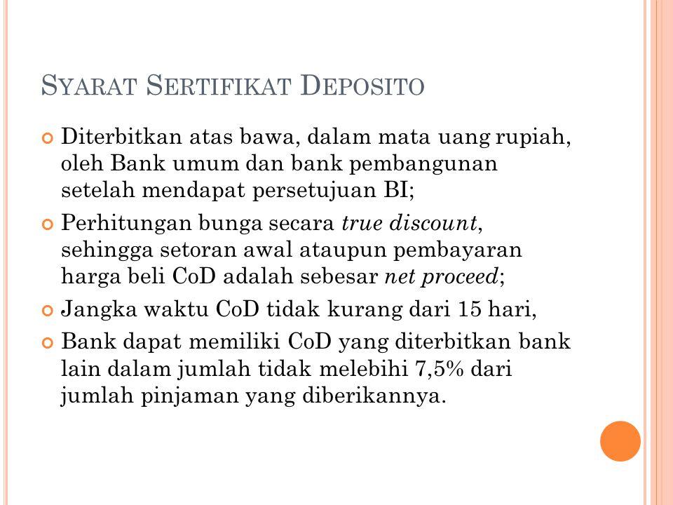Syarat Sertifikat Deposito