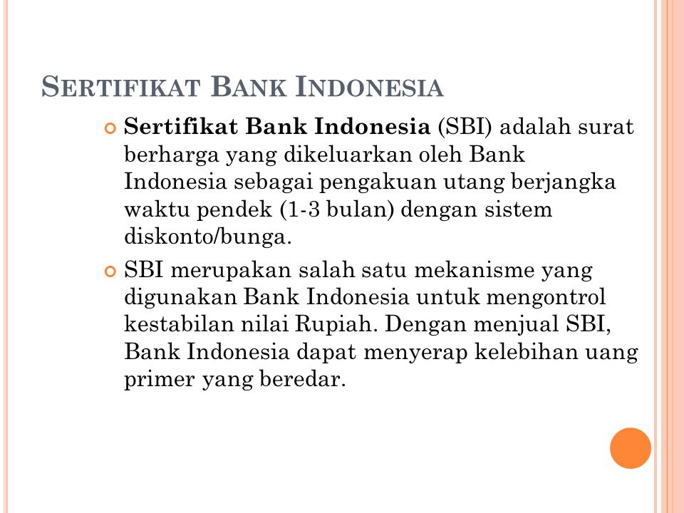 Sertifikat Bank Indonesia