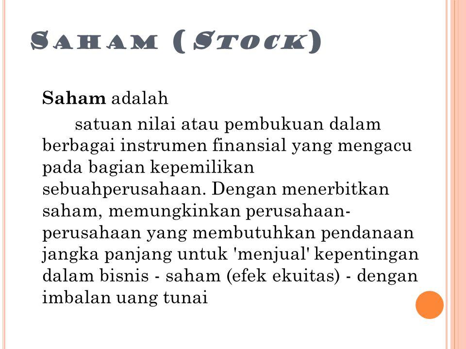 Saham (Stock)