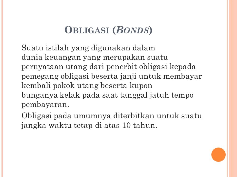 Obligasi (Bonds)