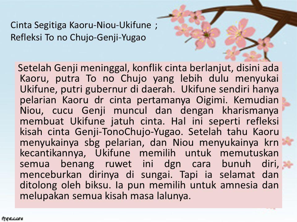 Cinta Segitiga Kaoru-Niou-Ukifune ; Refleksi To no Chujo-Genji-Yugao