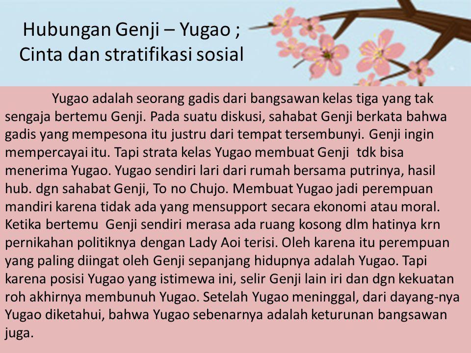 Hubungan Genji – Yugao ; Cinta dan stratifikasi sosial