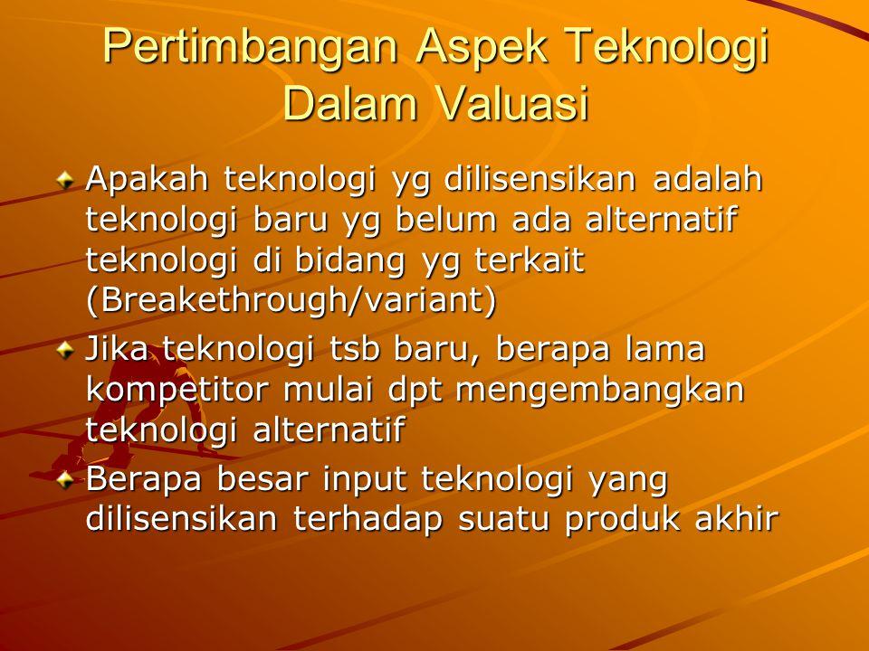 Pertimbangan Aspek Teknologi Dalam Valuasi