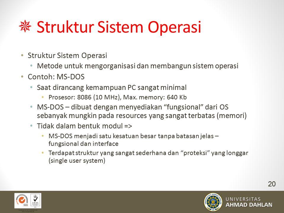  Struktur Sistem Operasi