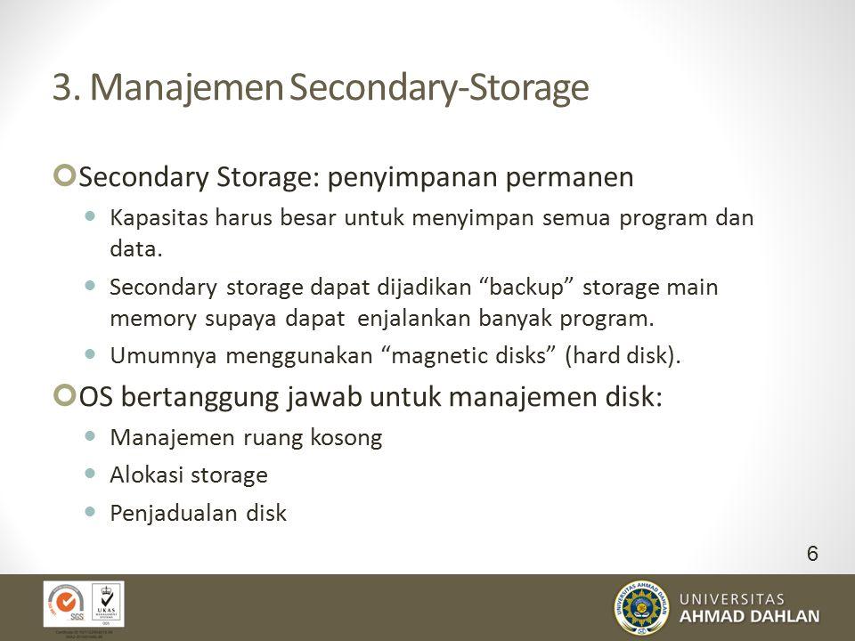 3. Manajemen Secondary-Storage