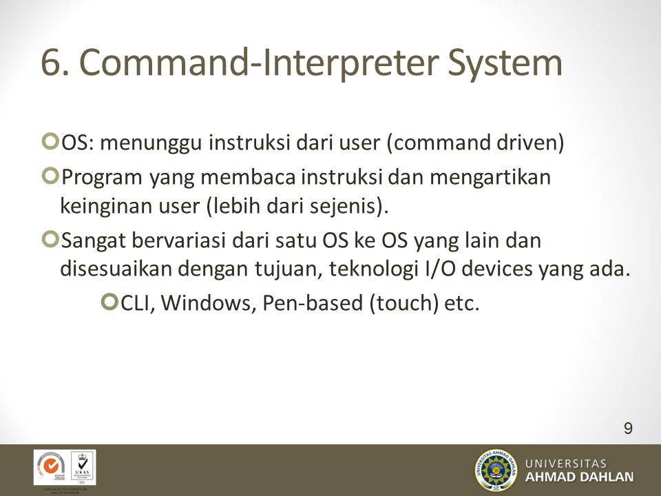 6. Command-Interpreter System