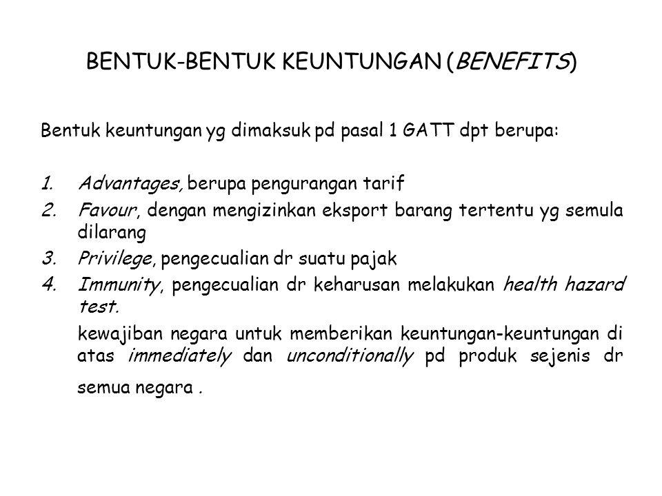 BENTUK-BENTUK KEUNTUNGAN (BENEFITS)