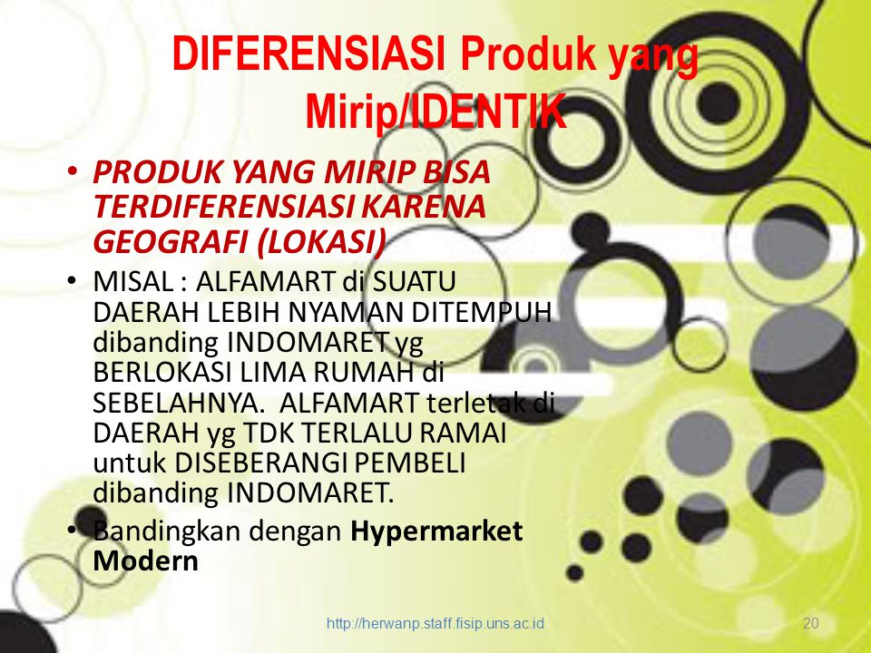 DIFERENSIASI Produk yang Mirip/IDENTIK