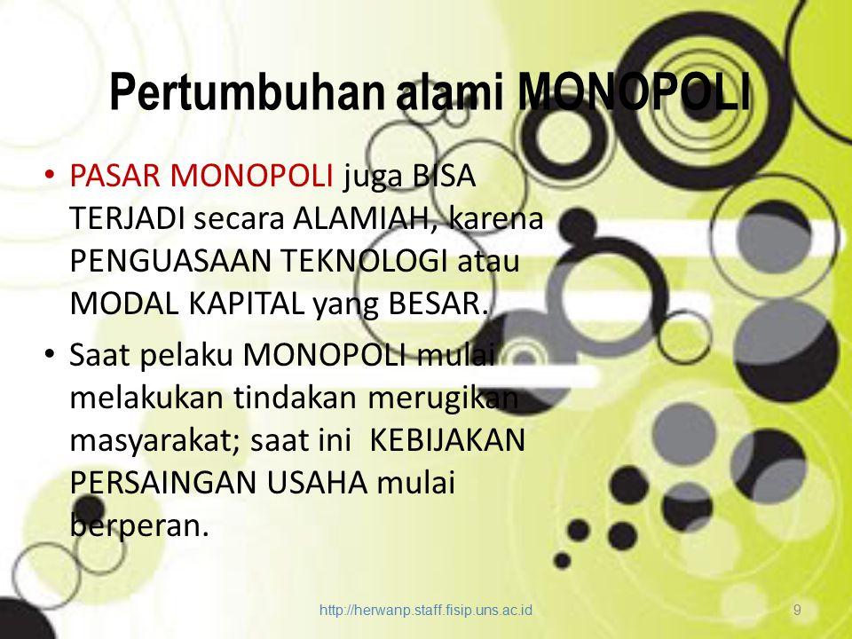 Pertumbuhan alami MONOPOLI