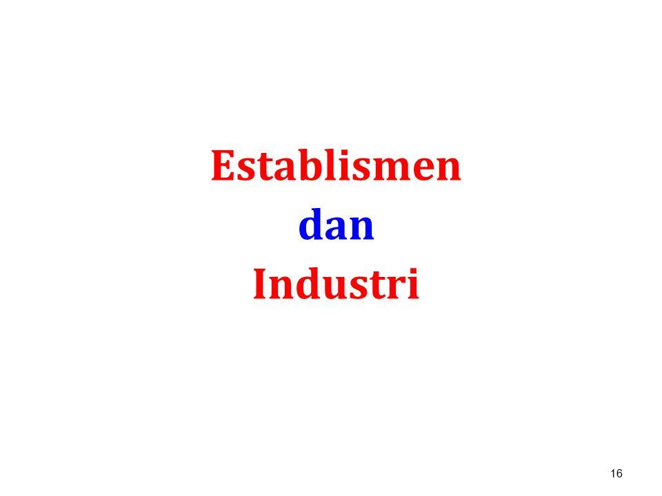 Establismen dan Industri