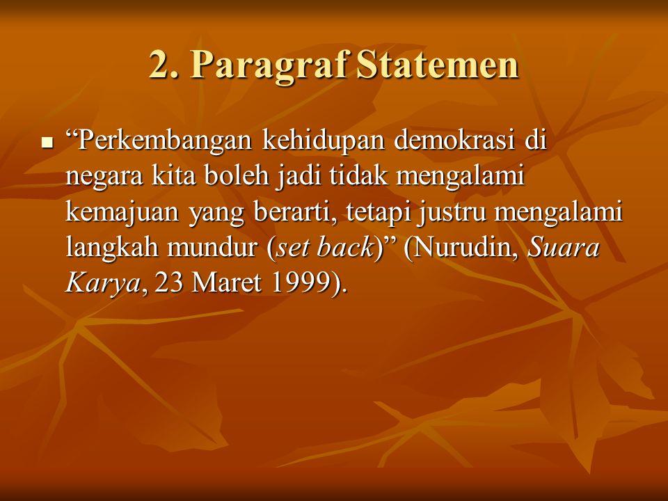 2. Paragraf Statemen
