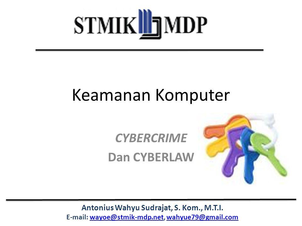 CYBERCRIME Dan CYBERLAW