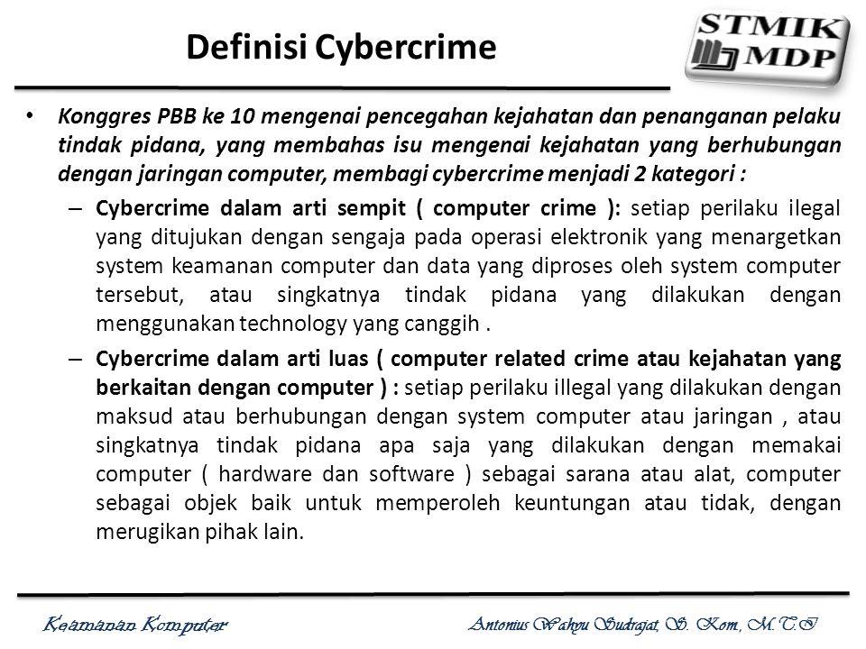 Definisi Cybercrime
