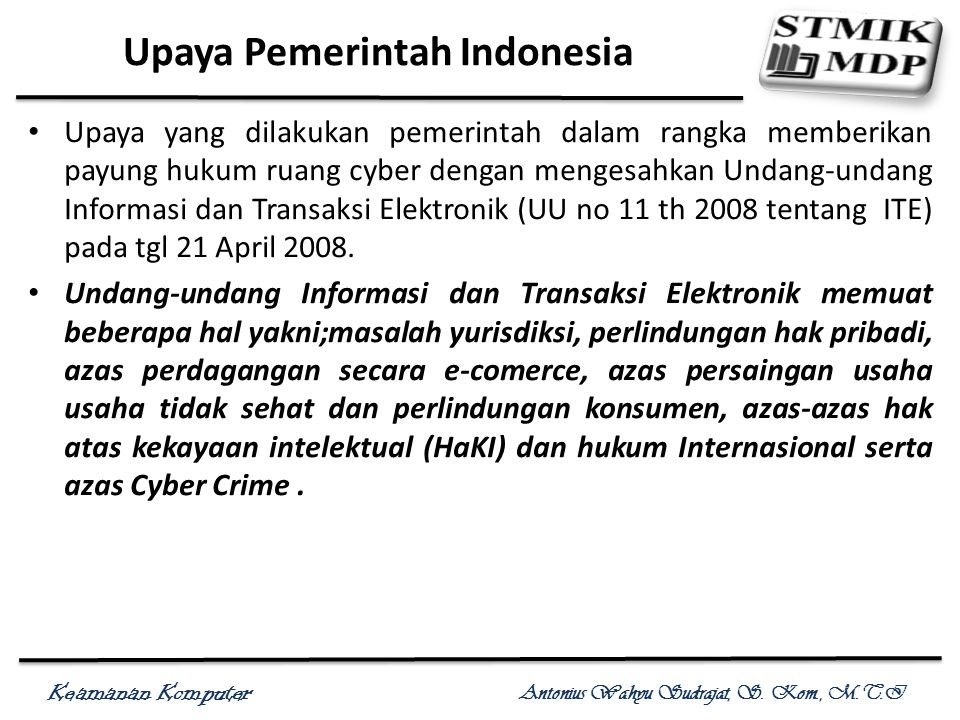 Upaya Pemerintah Indonesia