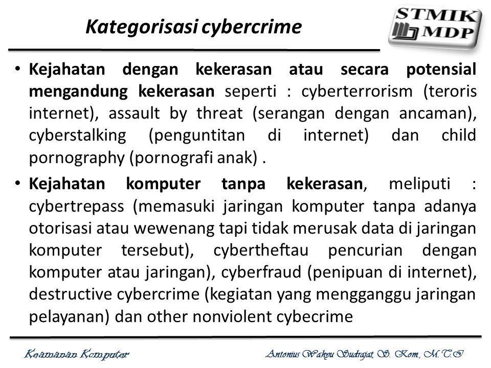 Kategorisasi cybercrime