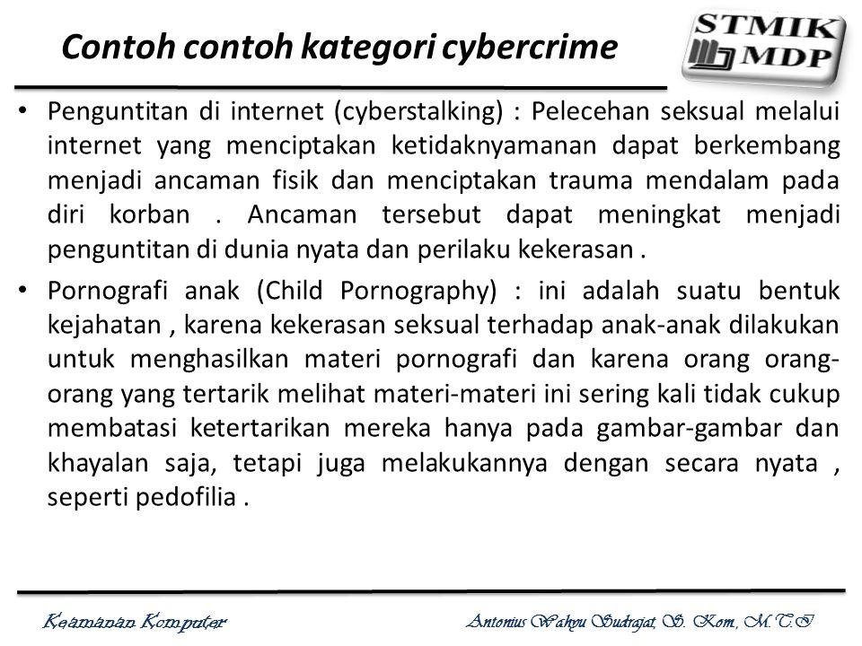 Contoh contoh kategori cybercrime