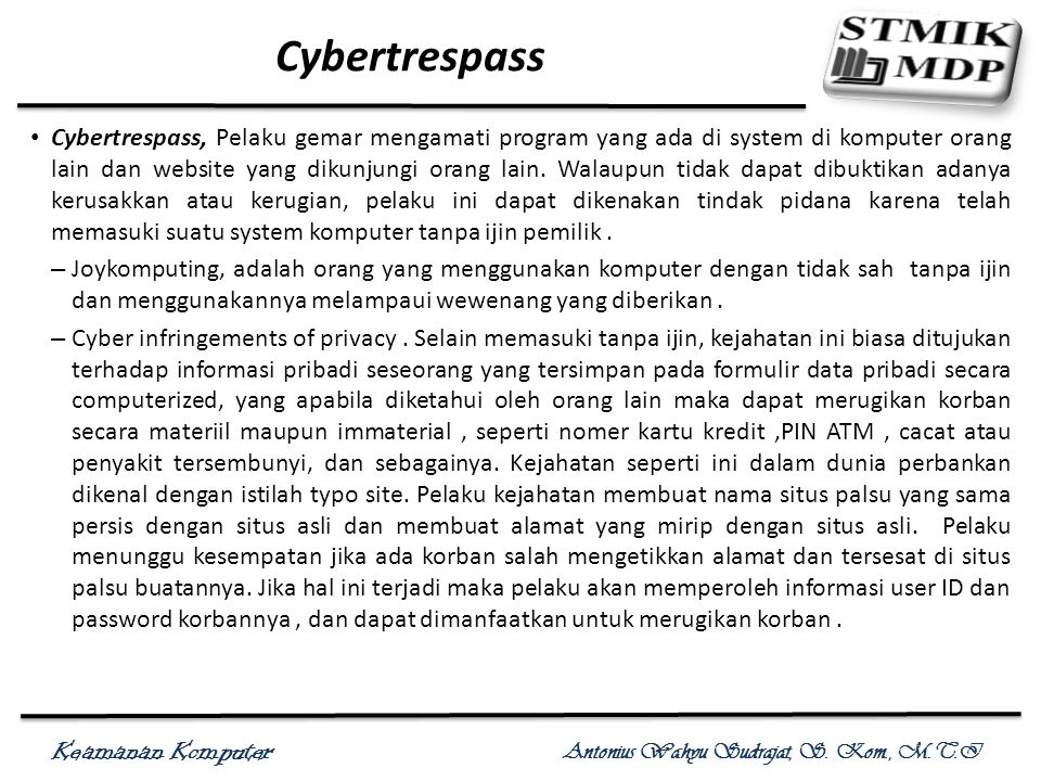 Cybertrespass
