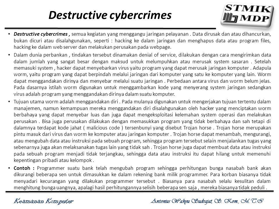 Destructive cybercrimes