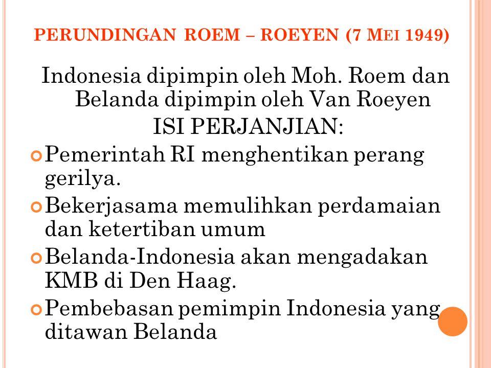 PERUNDINGAN ROEM – ROEYEN (7 Mei 1949)