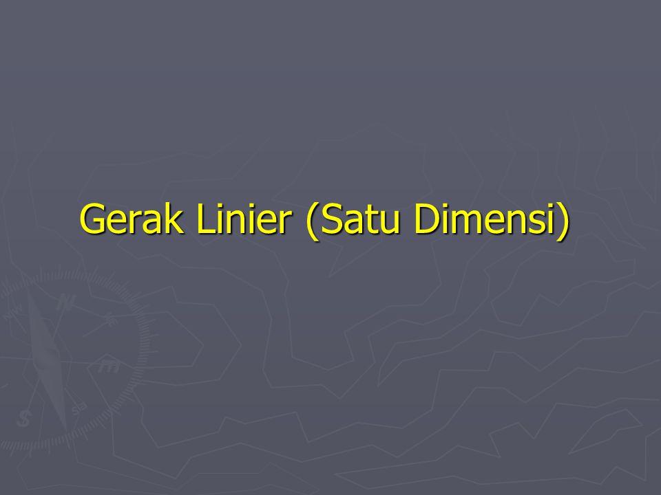 Gerak Linier (Satu Dimensi)