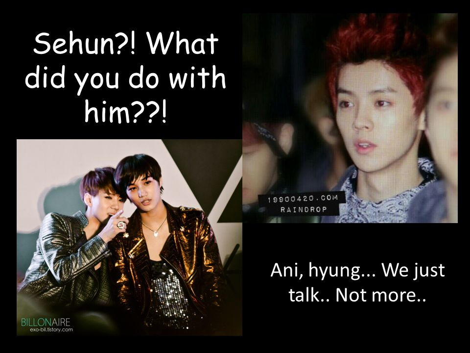 Sehun ! What did you do with him !