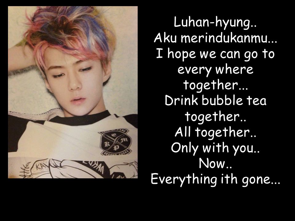 Luhan-hyung.. Aku merindukanmu... I hope we can go to every where together...