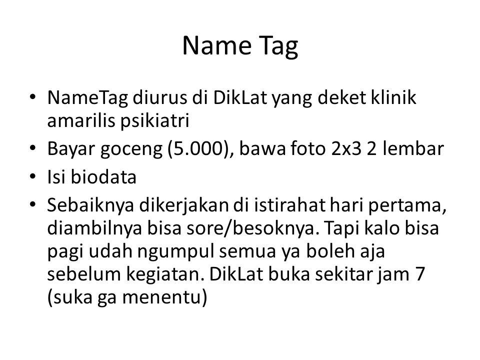 Name Tag NameTag diurus di DikLat yang deket klinik amarilis psikiatri