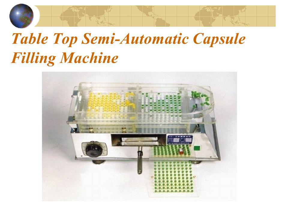 Table Top Semi-Automatic Capsule Filling Machine