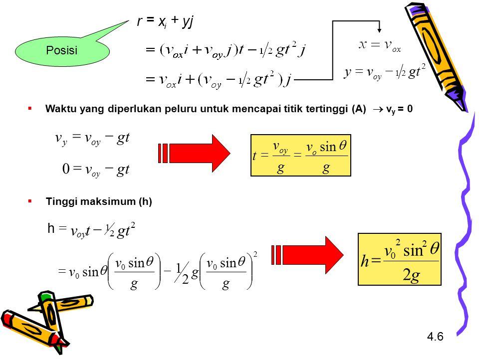 g v h 2 sin q = gt t v - gt v - = gt v - = yj x r + = gt v y - = g v t