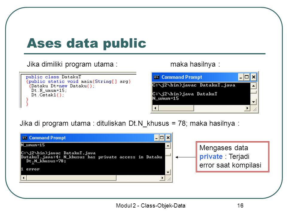 Modul 2 - Class-Objek-Data