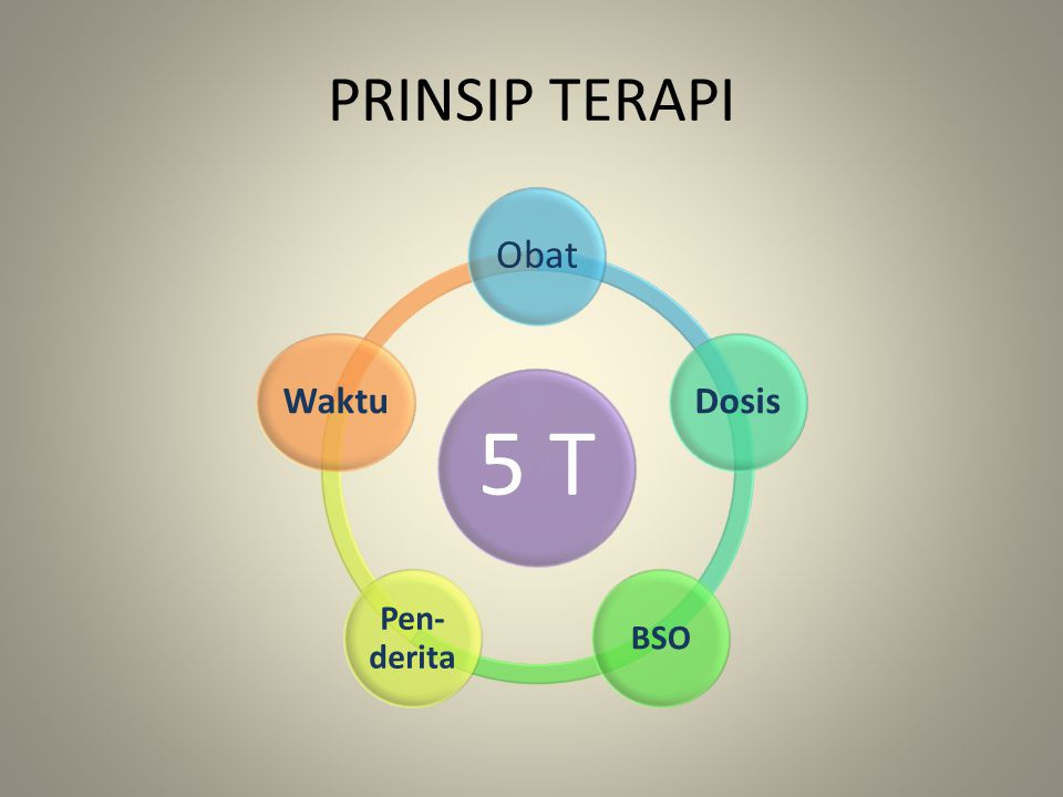 PRINSIP TERAPI 5 T Obat Dosis BSO Pen-derita Waktu