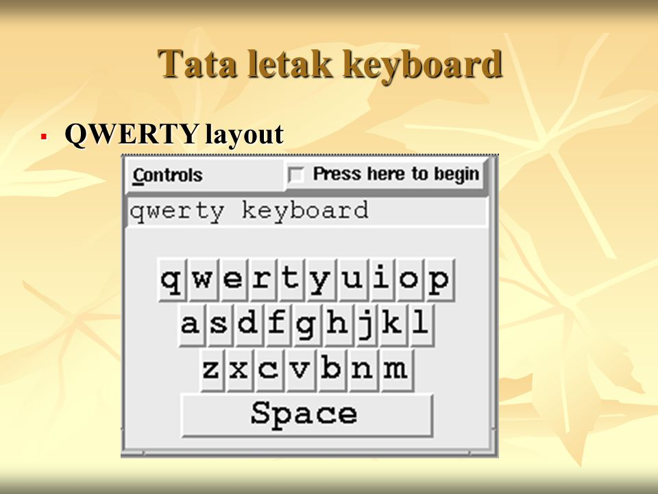 Tata letak keyboard QWERTY layout