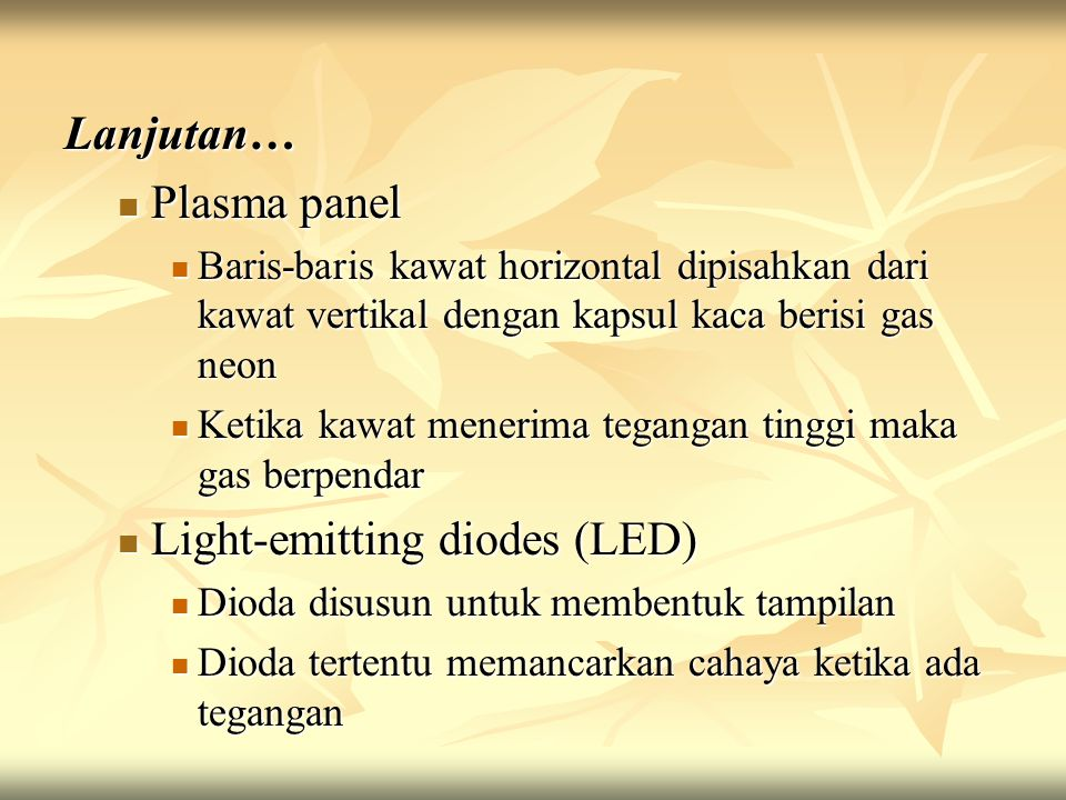 Light-emitting diodes (LED)